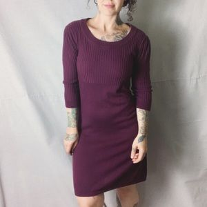 ATHLETA Plum Knit Sweater Dress